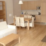 Oak flooring in living room